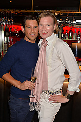 Ollie Locke and Henry Conway at the Quaglino's Q Legends Summer Launch Party hosted by Henry Conway at Quaglino's, 16 Bury Street, London England. 18 July 2017.