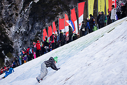 Spectators during Ladies 1.2 km Free Sprint Qualification race at FIS Cross<br /> Country World Cup Planica 2016, on January 16, 2016 at Planica,Slovenia. Photo by Ziga Zupan / Sportida