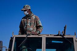 May 5, 2020, Johannesburg, Gauteng, South Africa: A South African National  Defence Force patrolling an area at Eldorado Park Johannesburg. (Credit Image: © Manash Das/ZUMA Wire)