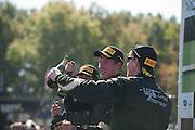 October 3-5, 2013. Lamborghini Super Trofeo - Virginia International Raceway. Podium celebrations for race 2 at VIR.