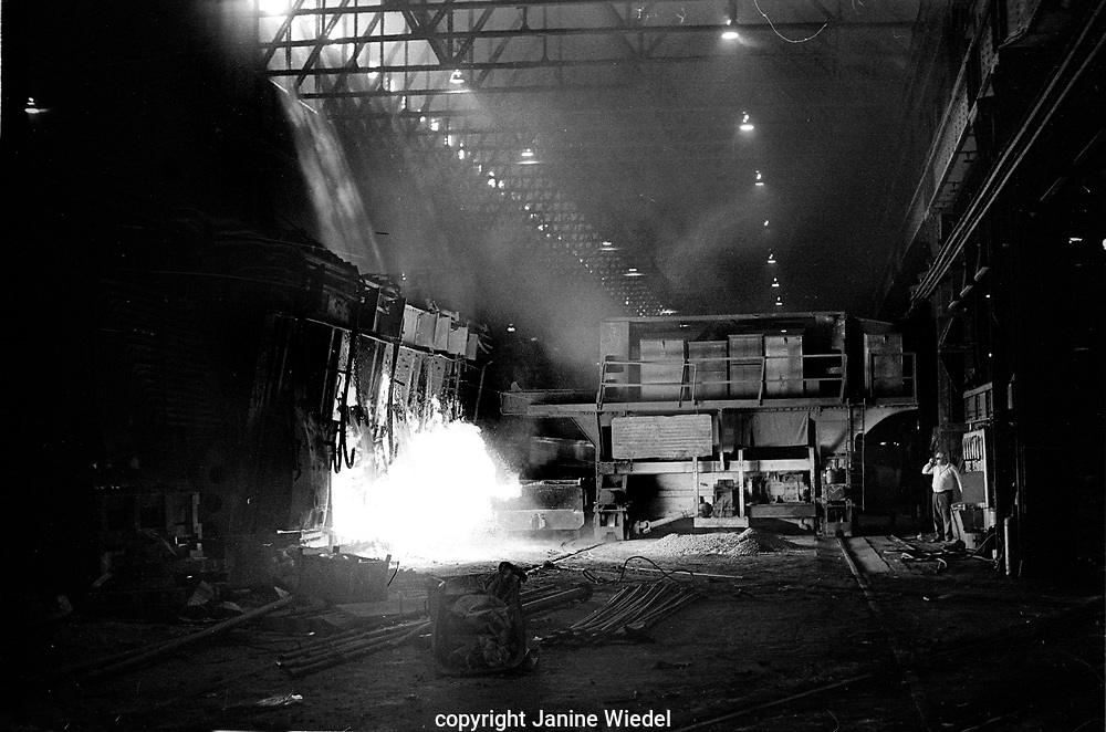 Bilston Steel Works in the West Midlands in the 1970s