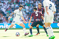 "Real Madrid's player Francisco Roman ""Isco"" and Eibar FC's player Gonzalo Escalante during a match of La Liga Santander at Santiago Bernabeu Stadium in Madrid. October 02, Spain. 2016. (ALTERPHOTOS/BorjaB.Hojas)"