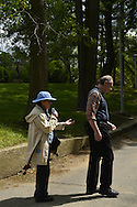 Cleo and Bob visit Nassau County Museum of Art, Roslyn Harbor, Long Island, New York, USA, on May 18, 2014