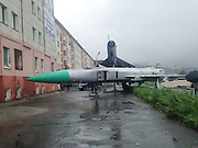 Plane drain: Soviet MiG fighters end up in river after flood in Russian city<br /> <br /> A powerful cyclone in Russia's Far East has caused a river in the city of Magadan to break its banks and wash away a display of old Soviet fighter jets. Some people have taken to jet skiing along the streets to get around.<br /> <br /> Three months worth of rain fell overnight on Tuesday and turned the normally shallow Magadanka River into a torrent taking everything in its wake, from small buildings to the skeleton fighter jets, down towards the Sea of Okhotsk.<br /> <br /> The two fighter jets were part of public display of military hardware, parked next to apartment blocks and used as a playground for local children. The military museum consisting of three fighter jets(two Su24 and MiG-21), a Mi-2 helicopter, T-54 tank, various APCs, anti-aircraft guns, a couple of naval guns, two M-75 anti-tank cannons, a radar, missiles and other pieces of military equipment that has been fascinating local youngsters.<br /> <br /> The jets have been fished out of the water as local authorities were concerned they could damage a number of bridges downstream.<br /> ©Exclusivepix