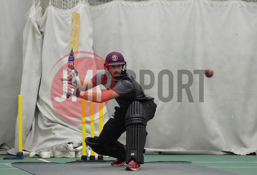 Somerset's Alex Barrow. - Mandatory byline: Alex Davidson/JMP - 25/02/2016 - CRICKET - The Cooper Associates County Ground -Taunton,England - Somerset CCC  Media access - Pre-Season