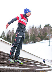 01.01.2018, Olympiaschanze, Garmisch Partenkirchen, GER, FIS Weltcup Ski Sprung, Vierschanzentournee, Garmisch Partenkirchen, Wertungsdurchgang, im Bild Stefan Kraft (AUT) // Stefan Kraft of Austria before the Competition Jump for the Four Hills Tournament of FIS Ski Jumping World Cup at the Olympiaschanze in Garmisch Partenkirchen, Germany on 2018/01/01. EXPA Pictures © 2018, PhotoCredit: EXPA/ JFK