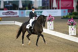 Katherine Bateson-Chandler, (USA), Alcazar<br /> CDI3* Grand Prix <br /> Royal Windsor Horse Show - Windsor 2015<br /> © Hippo Foto - Jon Stroud
