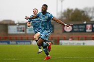 1-2, GOAL scored by Forest Green Rovers Jamille Matt(14) during the EFL Sky Bet League 2 match between Morecambe and Forest Green Rovers at the Globe Arena, Morecambe, England on 24 October 2020.
