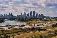 Calgary Skyline, Bow River & Deerfoot Trail Highway