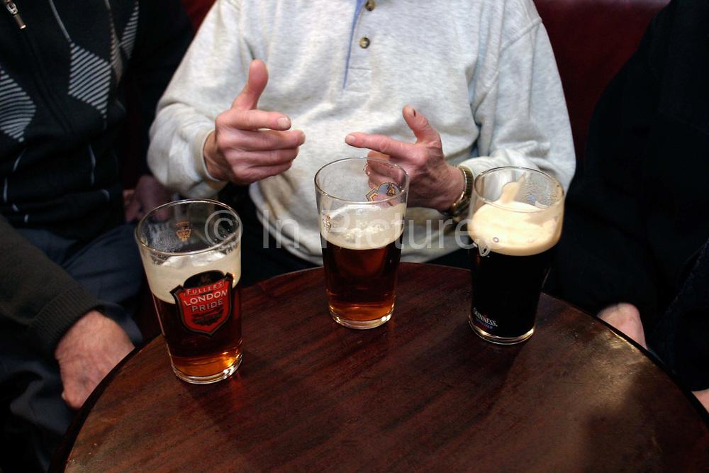 Drinkers in the Blackfriar Public House, London, UK