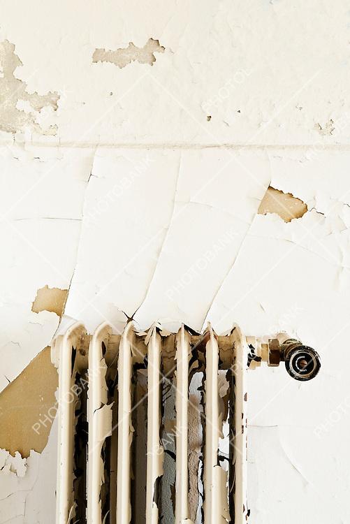 rusty old radiator, interior