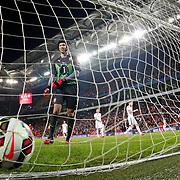 Turkey's Umut Bulut scores during their UEFA Euro 2016 qualification Group A soccer match Turkey betwen Czech Republic at Sukru Saracoglu stadium in Istanbul October 10, 2014. Photo by Aykut AKICI/TURKPIX