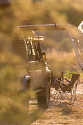 Safari 4x4 with roof tents in South Luangwa National Park, Zambia