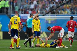 July 3, 2018 - Saint Petersburg, RUSSIA - Saint Petersburg, RUSSIA - Tuesday, July 3, 2018: Sweden beat Switzerland 1-0 at Saint Petersburg Stadium. (Credit Image: © Celso Bayo/ISIPhotos via ZUMA Wire)