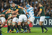 London, Great Britain,  Duane VERMEULEN, Dircts the drive, during the South Africa vs Argentina. 2015 Rugby World Cup, Bronze Medal Match.Queen Elizabeth Olympic Park. Stadium, Stratford. East London. England,, Friday  30/10/2015. <br /> [Mandatory Credit; Peter Spurrier/Intersport-images]
