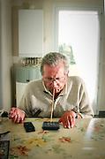 Pierre Massonnet, victime de tetraplegie. Portrait of Pierre Massonnet, a quadriplegic.