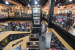 Inside Destination Daytona Harley-Davidson during the Daytona Bike Week 75th Anniversary event. FL, USA. Sunday March 6, 2016.  Photography ©2016 Michael Lichter.