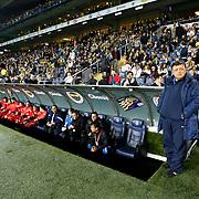 SB Elazigspor's coach Yilmaz Vural (R) during their Turkish Superleague soccer match Fenerbahce between SB Elazigspor at the Sukru Saracaoglu stadium in Istanbul Turkey on Sunday 20 January 2013. Photo by Aykut AKICI/TURKPIX