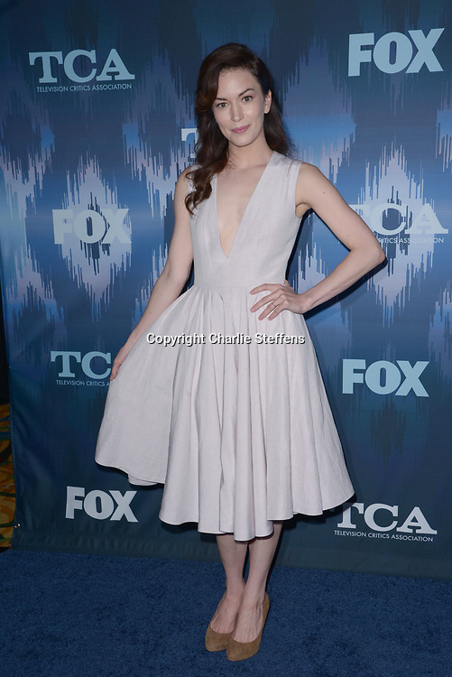 BRITT LOWER at the Fox Winter TCA 2017 All-Star Party at the Langham Hotel in Pasadena, California