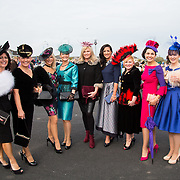 09.10.2016           <br /> Attend the Keanes Jewellers Best dressed competition at Limerick Racecourse were, Lisa Tracey, Nicola O'Driscoll, Sheila O'Driscoll, Ursula Looby, Sharon Tucker, Lisa McGowan, Lorraine O'Connell, Antoinette O'Connell and Mairead O'Driscoll. Picture: Alan Place