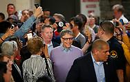 Microsoft founder Bill Gates arrives to play table tennis as part of the Berkshire Hathaway annual meeting weekend in Omaha, Nebraska, U.S. May 7, 2017. REUTERS/Rick Wilking
