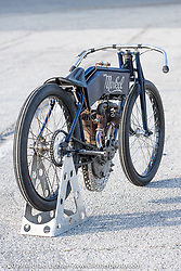 Billy Lane's 1911 Flying Merkel board track style racer after the Sons of Speed Vintage Motorcycle Races at New Smyrina Speedway. New Smyrna Beach, USA. Saturday, March 9, 2019. Photography ©2019 Michael Lichter.