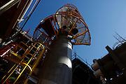 Tres Lagos_MS, Brasil.<br /> <br /> Na foto, obras no Pipe Rack 11 da Unidade de Fertilizantes Nitrogenados III da Petrobras em Tres Lagos, Mato Grosso do Sul.<br /> <br /> Works in the Pipe Rack 11, IIINitrogen Fertilizer Unit of Petrobras in Tres Lagos, Mato Grosso do Sul.<br /> <br /> Foto: LEO DRUMOND / NITRO