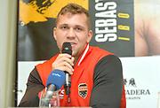 Tomas Salek<br /> Pressekonferenz vor Box-Gala von SES- und ES Boxing, Block-Braeu an den Landungsbruecken,<br /> 14. Januar 2020, Hamburg, Germany,<br /> © MSSP - MICHAEL SCHWARTZ SPORTPHOTO, <br /> 22605 Hamburg,  Tel: 0171-6460044, www.mssp.biz  -  www.schwartz-photo.de<br /> Honorar o. Abzug + 7% MwSt. -<br /> IBAN: DE83 2004 0000 0409 9909 00, BIC/SWIFT-Code: COBADEFF, zuvor: Commerzbank, Kto: 409990900, BLZ: 20040000,  Steuer-ID. DE225222405, FA Hamburg-Am Tierpark