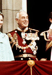 File photo dated 07/06/77 of Lord Louis Mountbatten. The Duke and Duchess of Cambridge have announced that their son will be named Louis Arthur Charles, paying tribute to the Prince of Wales's great-uncle, Earl Mountbatten, who was murdered by the IRA.