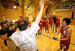 Nina Grilanc celebrates at finals of Slovenian women basketball 1st league between Hit Kranjska Gora and ZKK Merkur Celje, on May 15, 2007, in Kranjska Gora, Slovenia. (Photo by Vid Ponikvar / Sportida)