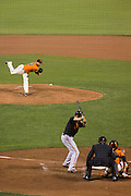San Francisco Giants relief pitcher George Kontos (70) pitches to Baltimore Orioles right fielder Mark Trumbo (45) at AT&T Park in San Francisco, Calif., on August 12, 2016. (Stan Olszewski/Special to S.F. Examiner)