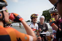 A happy winner celebrates with her teammates at Grand Prix de Plouay Lorient Agglomération a 121.5 km road race in Plouay, France on August 26, 2017. (Photo by Sean Robinson/Velofocus)
