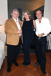 Left to right, DAVID EMMANUEL, the HON.LAURA LEVI  and ROD WESTON at the launch party of Ingrid Seward's new book 'William & Harry - The People's Princes' held at 47 Hornton Court West, London W8 on 7th October 2008.