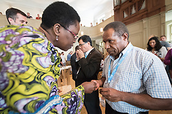 "1 July 2018, Geneva, Switzerland: On Sunday, LWF Council members joined local congregants for Sunday service at the Evangelical Lutheran Church in Geneva. The 2018 LWF Council meeting takes place in Geneva from 27 June - 2 July. The theme of the Council  is ""Freely you have received, freely give"" (Matthew 10:8, NIV). The LWF Council meets yearly and is the highest authority of the LWF between assemblies. It consists of the President, the Chairperson of the Finance Committee, and 48 members from LWF member churches in seven regions."