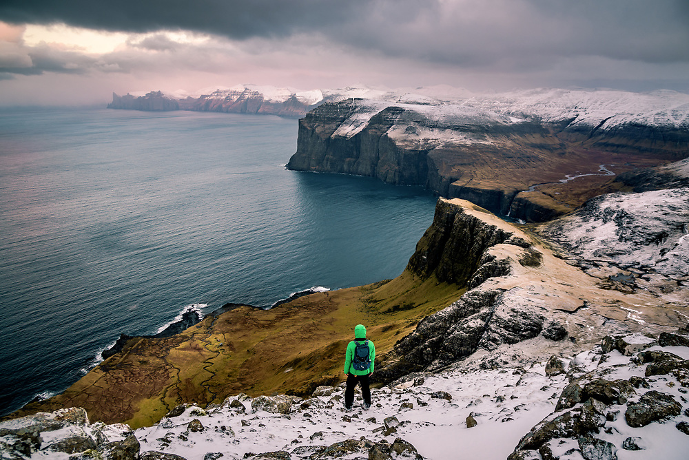 Ritun¯va headland of V·gar. Seem like no metter in what direction you are going to go at Faroe Islands, you will find yourself upon the stunning view.