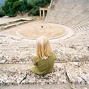 The Sanctuary of Asklepios at Epidaurus, and old Romen ampitheatre and UNESCO World Heritage Site, Epidaurus, Greece