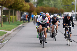 Elena Cecchini comes to the front at Dwars door de Westhoek 2016. A 127km road race starting and finishing in Boezinge, Belgium on 24th April 2016.