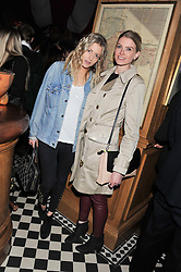 Left to right, ROSE LANGLEY and ALICE FARQUHAR at a party to celebrate the launch Mr Fogg's, 15 Bruton Lane, London W1 on 21st May 2013.