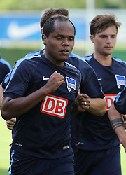 04.08.2014, Athletic Area, Schladming, AUT, Hertha BSC, im Bild Ronny (Hertha BSC, #12) beim Laufen // during a training session of the German Bundesliga Club Hertha BSC at the Athletic Area, Austria on 2014/08/04. EXPA Pictures © 2014, PhotoCredit: EXPA/ Martin Huber
