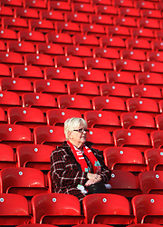 General view of a fan before the match - Mandatory by-line: Jack Phillips/JMP - 18/11/2017 - FOOTBALL - Anfield - Liverpool, England - Liverpool v Southampton - English Premier League