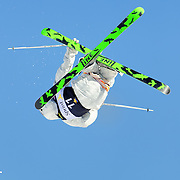 Charles Gandolfo performs aerial acrobatics during the 2009 Sprint US Freestyle Championships held at the Utah Olympic Park in Park City on March 8, 2009.
