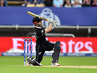 Cricket - 2019 ICC Cricket World Cup - Group Stage: New Zealand vs. South Africa<br /> <br /> New Zealand's Kane Williamson hits a 6 to tie the scores and bring up his century, at Edgbaston, Birmingham.<br /> <br /> COLORSPORT/ASHLEY WESTERN