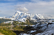 View of Mount Shuksan from Herman Saddle in the Mount Baker-Snoqualmie National Forest, Washington State, USA