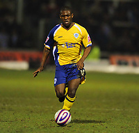 Kerrea Gilbert (Leicester) on Loan from Arsenal. Hartlepool United vs Leicester City at Victoria Park Hartlepool Football League one<br /> 17/02/2009. Credit Colorsport / Darren Blackman