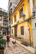 Section of the old city near St. Augustine Square in Macau.
