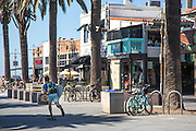 Skateboarding in Downtown Hermosa Beach