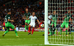 Harry Kane of England shoots at goal - Mandatory by-line: Robbie Stephenson/JMP - 05/10/2017 - FOOTBALL - Wembley Stadium - London, United Kingdom - England v Slovenia - World Cup qualifier