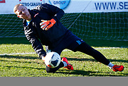 Ian Ormson of Stockport County during the pre-match warm-up  during Vanarama National League match between Dagenham and Redbridge FC and Stockport County at The Chigwell Construction Stadium, Saturday, Feb. 8, 2020 in Dagenham, United Kingdom.