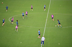 A general view during the training session at The Olympic Stadium, Baku.