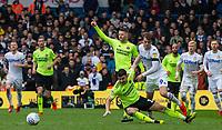 Leeds United's Patrick Bamford battles with Sheffield United's John Egan<br /> <br /> Photographer Alex Dodd/CameraSport<br /> <br /> The EFL Sky Bet Championship - Leeds United v Sheffield United - Saturday 16th March 2019 - Elland Road - Leeds<br /> <br /> World Copyright © 2019 CameraSport. All rights reserved. 43 Linden Ave. Countesthorpe. Leicester. England. LE8 5PG - Tel: +44 (0) 116 277 4147 - admin@camerasport.com - www.camerasport.com